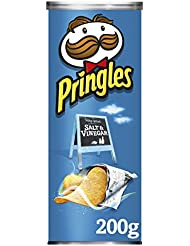 Pringles Salt and Vinegar Potato Crisps, 200 g