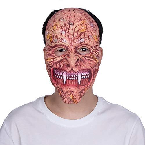 Circlefly Tusk Ghost Halloween Maske Horror Latex Perücke Bar Prom Streich Requisiten