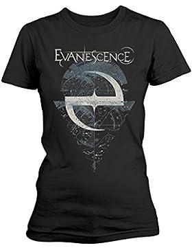 Evanescence Space Map Camiseta Mujer Negro