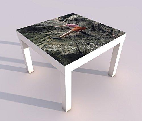 Design - Tisch mit UV Druck 55x55cm Freeclimbing Felsen Klettern Extrem Spieltisch Lack Tische Bild Bilder Kinderzimmer Möbel 18A1241, Tisch 1:55x55cm