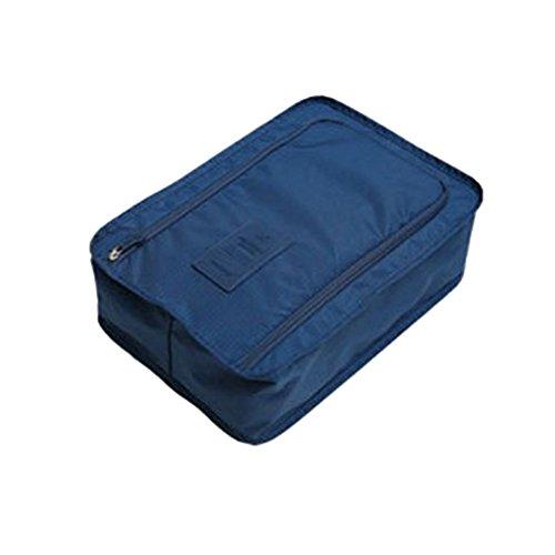 BESTOMZ Sacchetto per scarpe Borsa di scarpe da viaggio in valigia Custodia scarpe portatile e impermeabile (blu scuro)