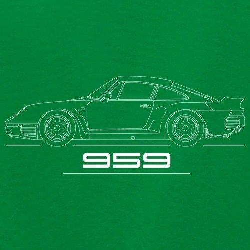 Seitenansicht Porsche 959 (1986 - 1989) - Unisex Pullover/Sweatshirt - 8 Farben Grün