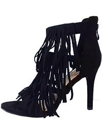 45f48a4be3096 MYWY - Sandalo donna sandalo frange sandalo tacco scarpa donna tacco alto