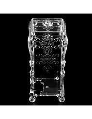 Tupfer Organizer Wattepad Box Schmuck Kaste Schmuckbox Kosmetik Case Acryl