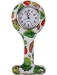 Boolavard® TM Orologio da infermiere in silicone con spilla - orologio tascabile creatura