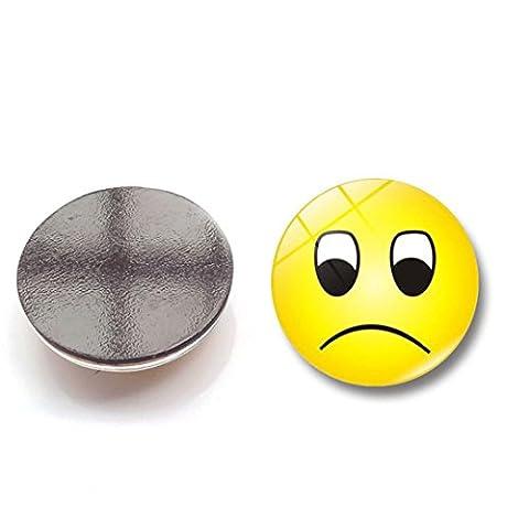 JIANGFU Lächelnde Glas Kühlschrank Aufkleber,Nettes Emoji Glas-Kleber-Zeichen-Muster-Hauben-Glas Kühlschrankmagnet (A)