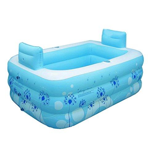 Kunststoff aufblasbare badewanne Haushalt Erwachsenen Paar Bad Badezimmer doppel verdickte Kinder Falten Bad Bad Pool (Doppel Dauert Kostüm)