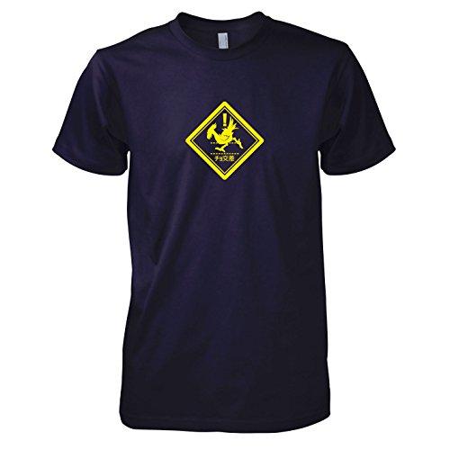 TEXLAB - Choco Crossing - Herren T-Shirt, Größe L, navy (Final Fantasy Chocobo Kostüm)