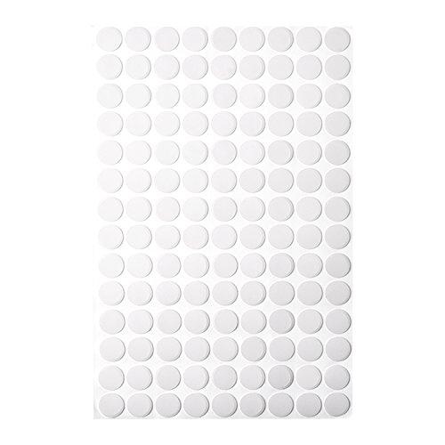126 Pièces Cache-Vis Auto-Adhésifs Bouchon de Trous Vis Trou Autocollants, 13 mm, Grisâtre Blanc