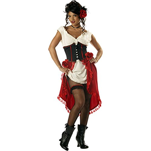 Can Can Girl, Saloonlady, Cantina Gal 00861 (Small) (Saloon Girl Adult Kostüm)