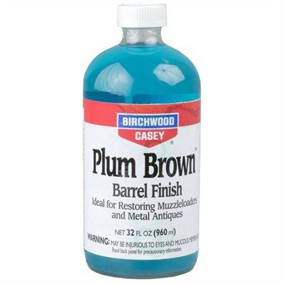 Birchwood Casey PB-QT Plum Brown Barrel Finish Liquid, 32-Ounce by