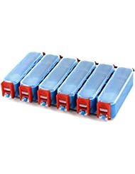 Anzuelo Pez Tackle Box Señuelo Pesca Caja De Almacenamiento 12 Ranuras Rojo Azul Transparente