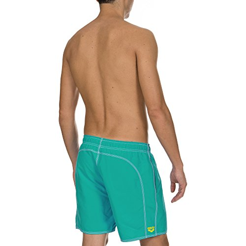 Arena Fundamentals Solid Short de bain pour homme Bali Green/Yellow Star