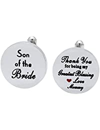 Melix Home Son The Bride Cuff Links - Thank You Being My Greatest Blessing Cuff Links