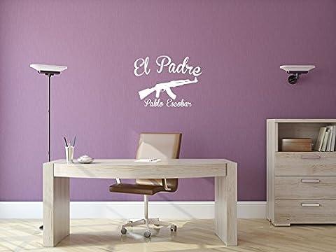 El Padro - Pablo Escobar - Weiss - ca. 80 x 60 cm