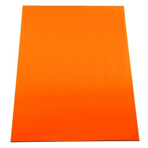 first4magnets 297 x 210 x 0.85mm A4 Orange Flexible Magnetic Sheet for Arts and Crafts Test