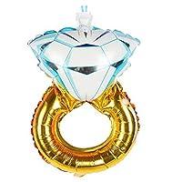 بالون على شكل خاتم الماس لحفلات الزفاف والخطوبة وحفلة العروس وتوديع العزوبية، لوازم ديكور الحفلات، قطعة واحدة