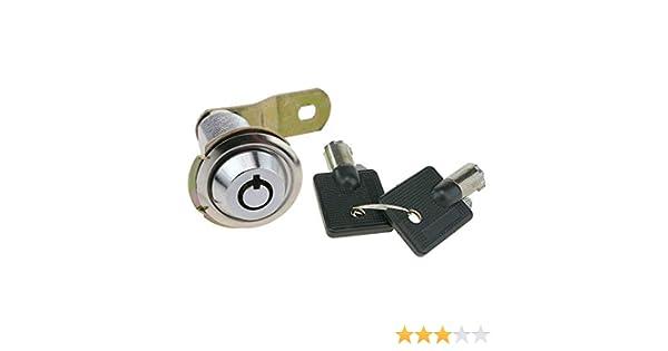 UOOOM Cam Lock Serrure /à Came avec Cl/és pour Bo/îte aux Lettres Tiroir Cabinet Placard T 38mm