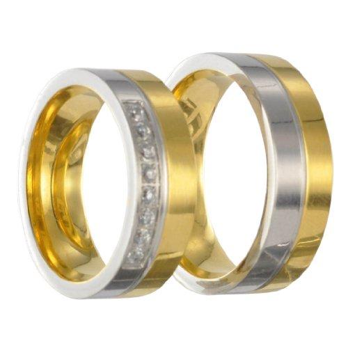 2 Edelstahl Ringe Partnerringe Freundschaftsringe Eheringe mit Gravur 40150 Gr 72
