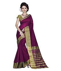 Buyonn Women's Cotton Saree (OFS103-PINK1_Pink_Free Size)