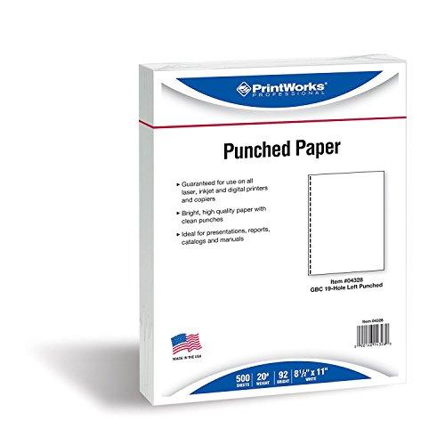 Printworks Professional 04328Letter (215.9× 279.4mm) weiß Papier Tintenstrahldrucker–Papiere Tintenstrahldrucker (Letter (215.9× 279.4mm), Universal, Weiß, 500Blatt)