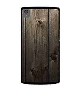Fuson Designer Back Case Cover for OnePlus X :: One Plus X (Wooden Woody Door Strong Brown)