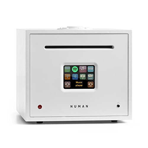 NUMAN Unison Reference • All-in-One-Receiver • Verstärker • Internetradio • CD-Player • WLAN • DAB+ • UKW • Bluetooth • USB-Anschluss • 2 x 40 Watt RMS • Fernbedienung • Spotify Connect • weiß Audio Recorder Wifi