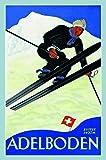 Schatzmix Plaque Murale en tôle Motif Skis Suisse Multicolore 1400 m 20 x 30 cm...