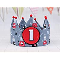 Corona de tela para cumpleaños niños, decoración primer cumple bebé, adorno para fotografía