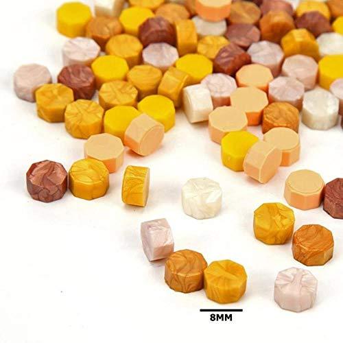 BTKNOO 100 stücke Elegante Retro Achteck Siegellack Granulat Korn Pillen Perlen für Zoll Sicherheit Versicherung Stamping Supplies, Champagner -
