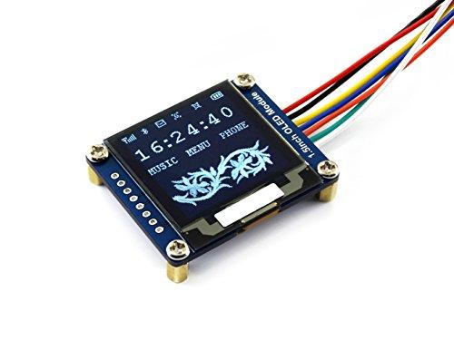 Preisvergleich Produktbild Waveshare 1.5inch OLED Display Module 128x128 Pixels 16-bit Grey Level with Embedded Controller Communicating via SPI or I2C Interface