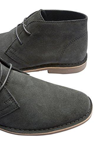 next Uomo Desert Boots in Pelle Scamosciata Grigio scuro Enchufe De Fábrica De La Venta En Línea cog0mArMGQ
