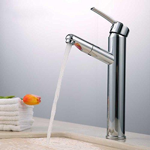 Tout cuivre chaud et Bassin d'eau froide robinet de bain Hauteur Robinet Lavabo Salle de bains robinet de bassin contre