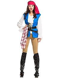 lancoszp Disfraz de Capitan Pirata de Halloween para Hombre/Mujer