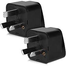 kwmobile 2x adaptadores de viaje para Australia - adaptador de corriente universal tipo I para Australia Nueva Zelanda China - adaptador para viajes