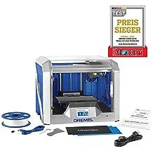 """Imprimante 3D Dremel DigiLab 3D40 (1 filament PLA, écran tactile LCD 3,5"""", Wifi, logiciel de mise sous couches) pour amateurs, écoles, prototypage"""