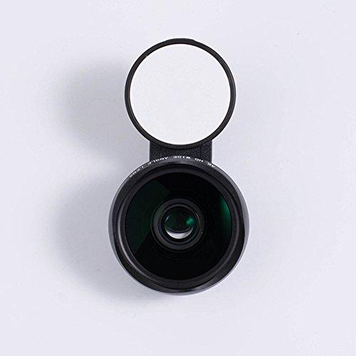 LOVEPIE Kamera Tele-Makro-Objektiv HD SLR-Kamera & Weitwinkel Schönheit Fill Licht Lichter-Edelstahl Optisches Glas, Smartphones Universal,Black (Angeln Wolf-kamera)