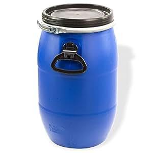 maischefass 30 liter in blau mit deckel griffen als. Black Bedroom Furniture Sets. Home Design Ideas