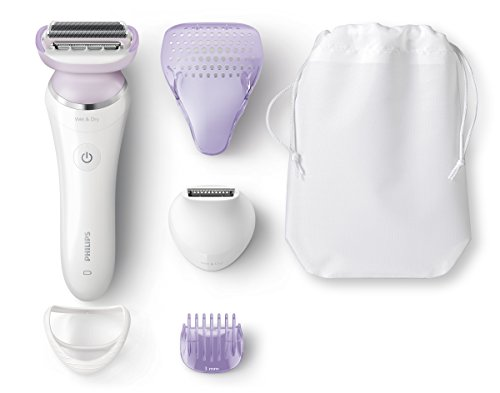 Philips SatinShave Prestige Wet & Dry Electric Lady Shaver with 5 Accessories - BRL170/00