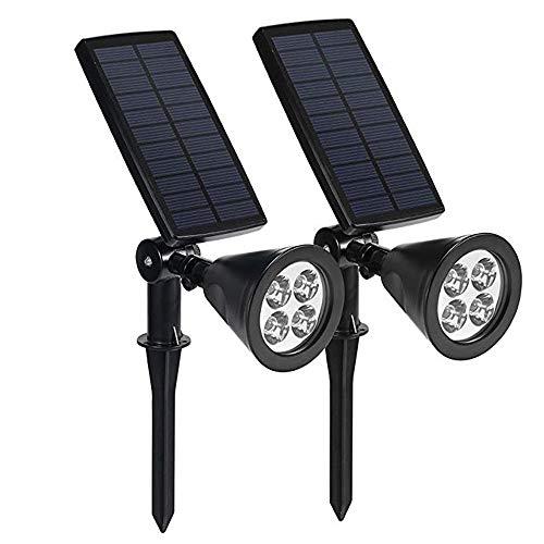 Solarlichter, justierbarer ultra heller 4 LED-Scheinwerfer, 180 ° gedreht u. Selbst an/aus wasserdicht Solarbetriebener Innen- u. Im Freiengarten-Solarlicht-Sicherheits-Beleuchtung