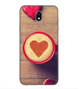OBOkart Love coffee 3D Hard Polycarbonate (Plastic) Designer Back Case Cover for Samsung Galaxy J7 Pro
