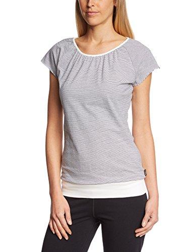 Forvert Easy T-shirt pour femme Beige - Beige/bleu marine