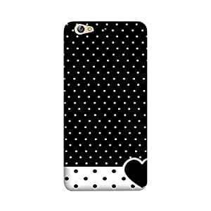 StyleO Premium Quality Printed Back Cover For Gionee S6 [Black Heart Dotted Pattern]