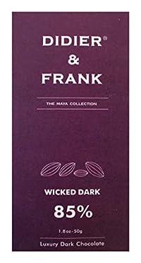 Didier & Frank - Wicked 85% Dark Chocolate - 50g (Luxury Wicked Dark Chocolate), Pack of 2