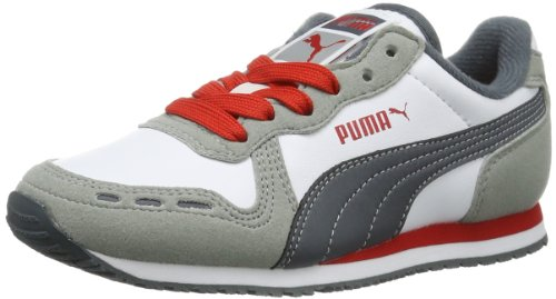 Puma Cabana Racer SL Jr, Sneaker bambine multicolore (Mehrfarbig (limestone gray-white-turbulence-high risk red 24))