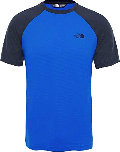 THE NORTH FACE M tanken Raglan T Shirt, Herren L Blau (urban Navy/Bomber Blue) -