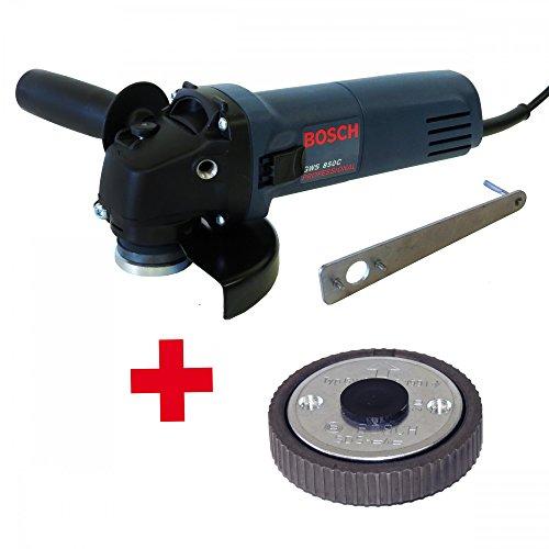 Preisvergleich Produktbild Bosch Winkelschleifer 125mm GWS 850C 125er 850W + Bosch Schnellspannmutter für Winkelschleifer SDS-Clic mit M14 Aufnahme