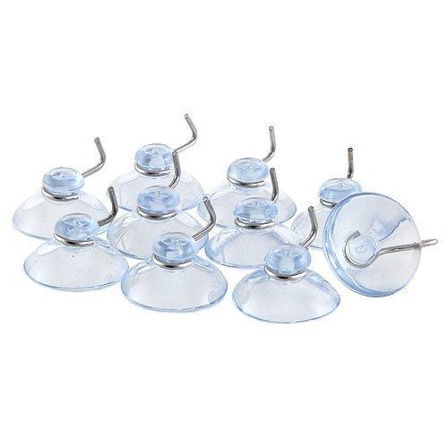 Idena 8581059 Saughaken, Plastik, 10 Stück, transparent, 9,7 x 12,6 x 2,7 cm