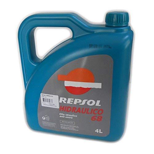 Repsol HIDRAULICO 68 CRT 4lt Olio Idraulico Anti Usura per Macchine industriali