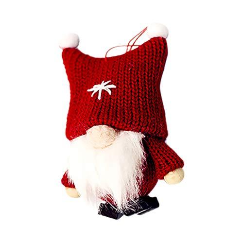 xmansky Für Weihnachten Halloween Party, Zuhause, Kamin, Hotel, Bar,Wolle süße GNOME Puppe Weihnachten Puppe Anhänger kreative Christbaumschmuck (Gnome Kostüm Für Jungen)